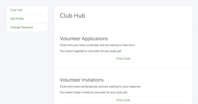 Here's an example of what your Club Hub will look like.