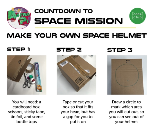 Make your own space helmetCUT