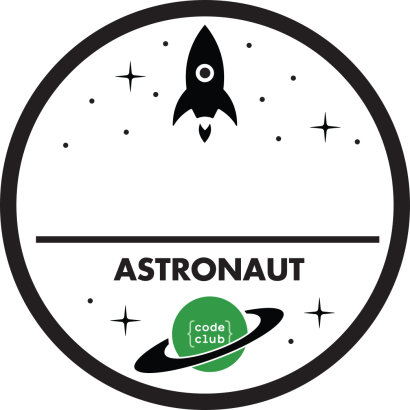 Code Club Astronaut Badge