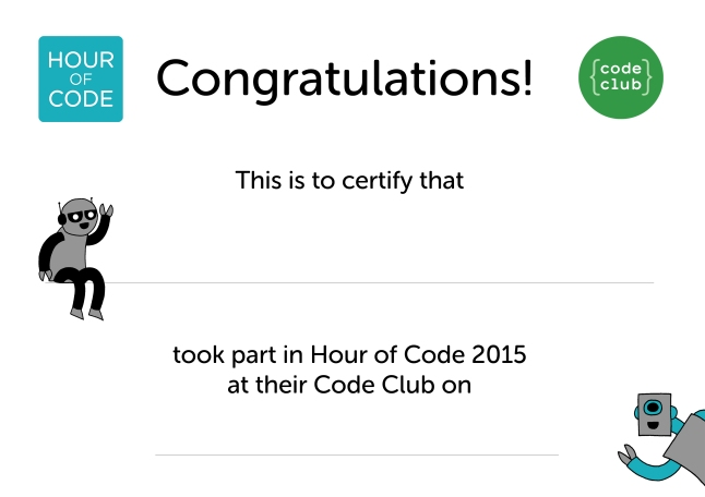 Hour of Code certificate v3